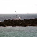 Ex Guernsey Yacht Ardel high & Dry on Goubeau Reef on Guernsey's East coast 15-04-12 Pic by Tony Rive (1)