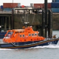 Lifeboat Spirit of Guernsey leaving St Peter Port on a shout to the West coast 22-12-15 Pic by Tony Rive (1)